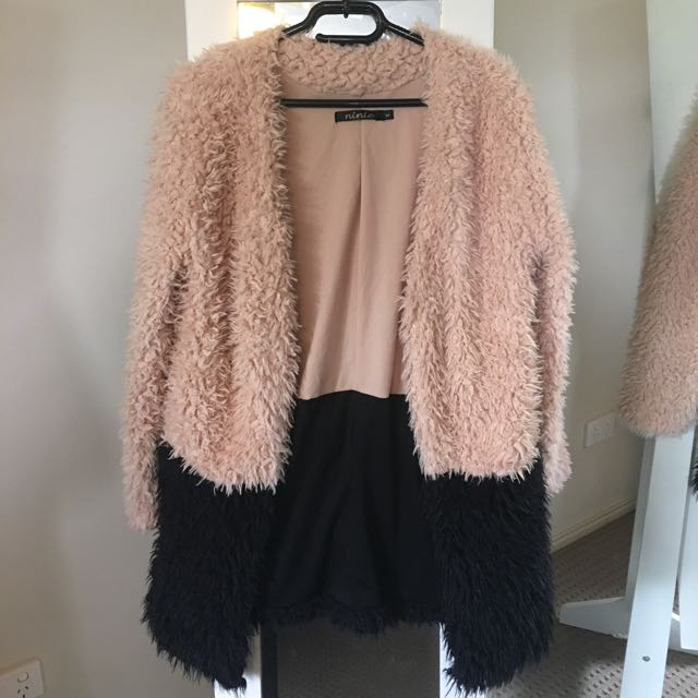 Soft Pink and Black Cardigan