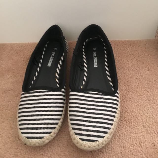 Stripe Slip Ons