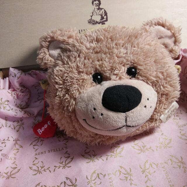 Suzy's Zoo 超可愛 立體梨花熊 萬用袋 化妝包 相機包