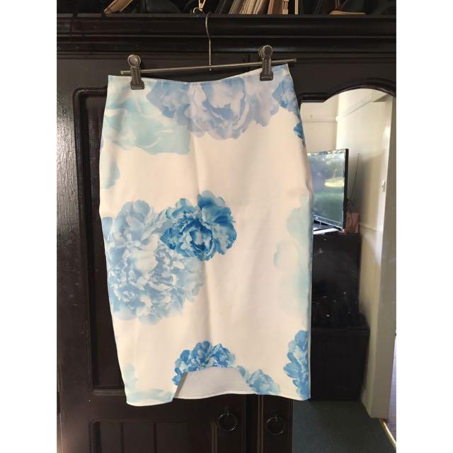 Tigermist Pencil Skirt
