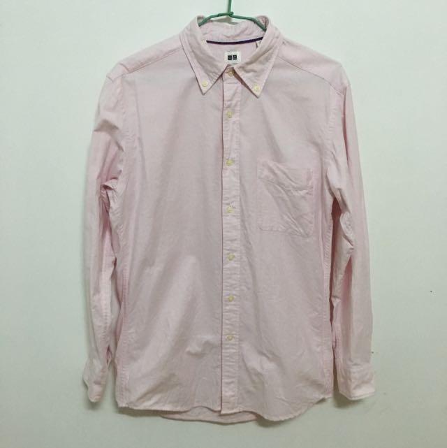 Uniqlo 粉色襯衫