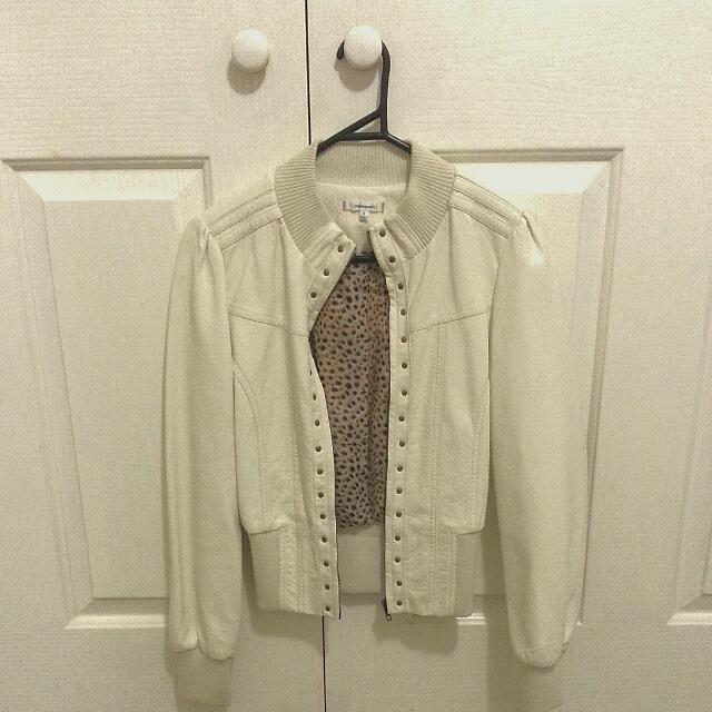 White Valleygirl Leather Jacket