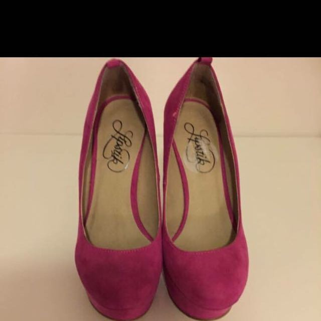 Worn once  Pink Lipstick Shoes