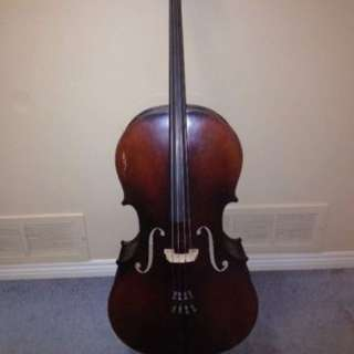 Spruce top/maple back 3/4 student size cello