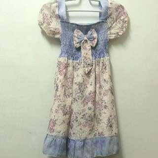 復古印花夢幻洋裝
