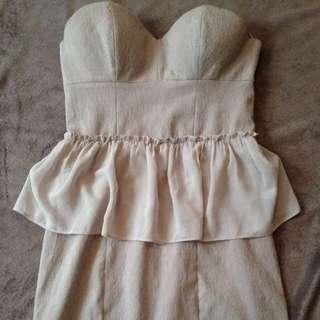 Beige short dress from Guess