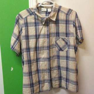 button up short sleeve flannel
