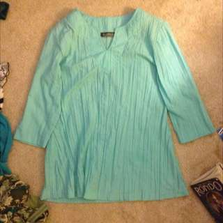 light blue tunic top