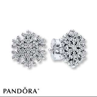 Pandora Snowflake Earrings