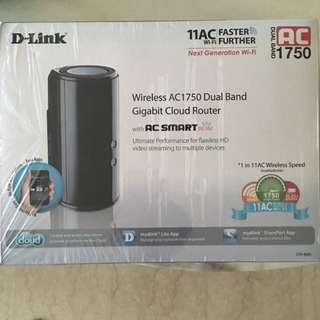 BNIB D-Link Wireless AC1750 Dual Band Gigabit Cloud Router
