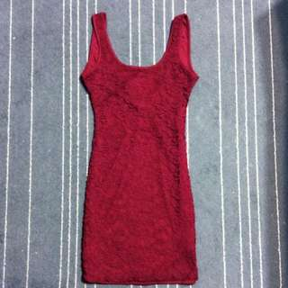 Red Lace Dress - Size XS