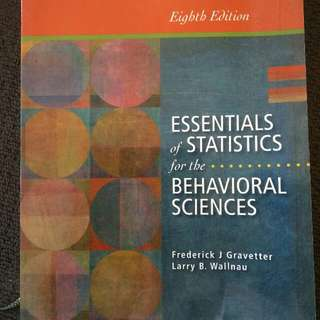 Essentials Of Statistics For The Behavioral Sciences -  Gravetter And Wallnau