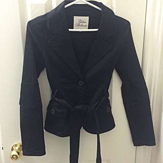 Black Jacket W/ 3 Buttons & Belt
