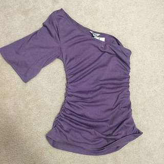 Guess - Purple One-Sleeve Top