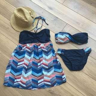 (已保留)夏季必備平口Bikini三件組/比基尼