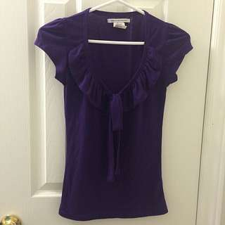 Purple Top With tie/bow