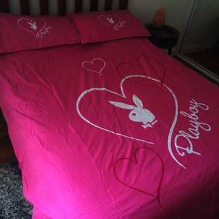 Reversible Playboy Doona Cover