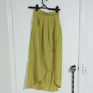 Mossman Chartreuse Skirt