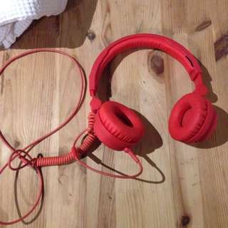 URBAN EARS red Headphone RRP $90