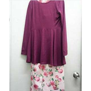 Peplum & Floral Skirt