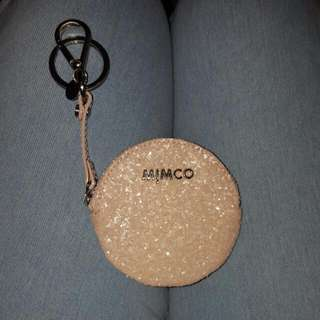 Mimco Pink Sparks Coin Purse Keychain