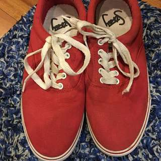 Roger David Red Slip On Shoes Size : 41
