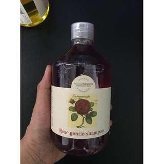 捷克 BOTANICUS(菠丹妮/波丹尼)玫瑰精油洗髮精/500ml/PE瓶/2016年6月20日帶回