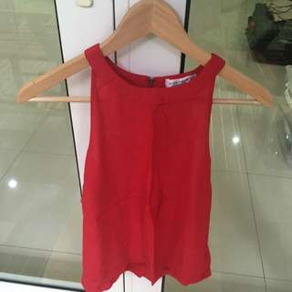 COTTON ON RED halter top