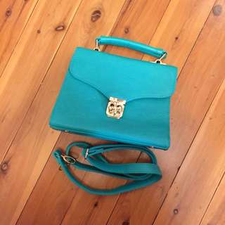 Colette Teal Coloured Bag (With Straps)