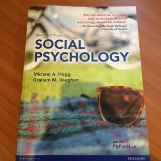 Social Psychology (7ed) By Hogg And Vaughan
