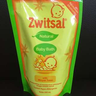 Zwitsal Baby Bath With Minyak Telon 250ml Pouch