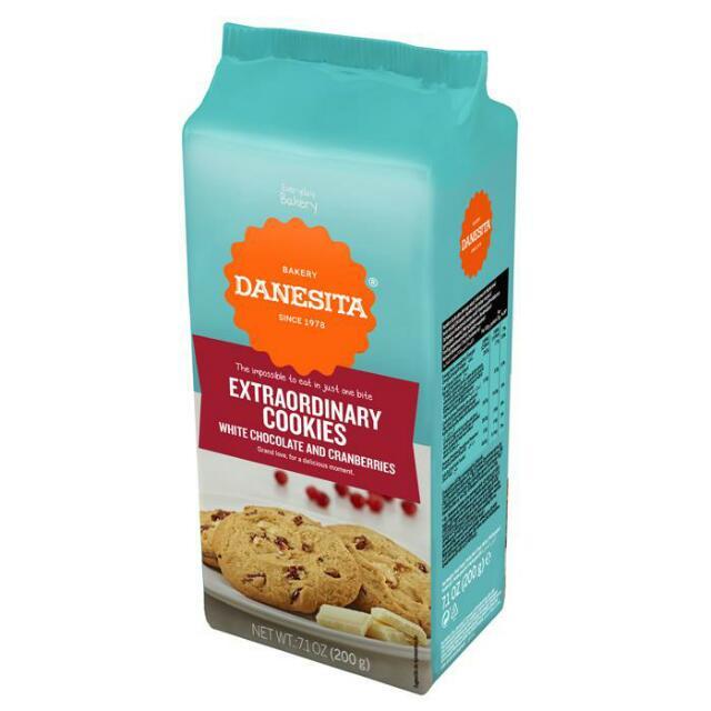 丹尼西塔白巧克力蔓越莓餅乾200g