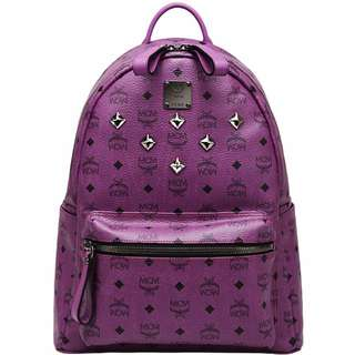 mcm purple bag pack