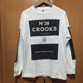 Crooks And Castle White Printed Long Sleeve Shirt