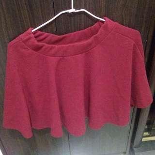 酒紅色傘裙
