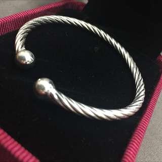 925純銀簡單百搭手環