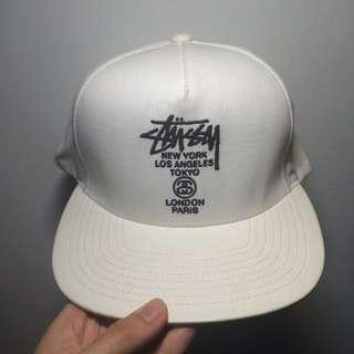 Stussy 聯名 皮革 帽