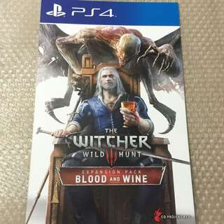 The Witcher 3 Wild Hunt : Blood & Wine DLC (PS4/R3)