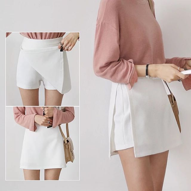 修身褲裙(白)