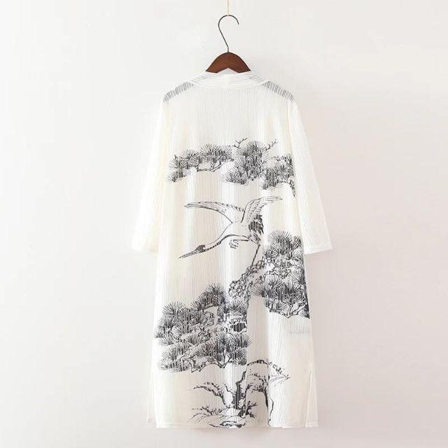 ►外貿_日本水墨長版罩衫