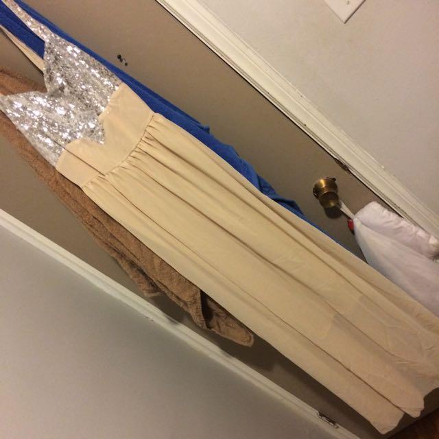 Beige Prom Dress