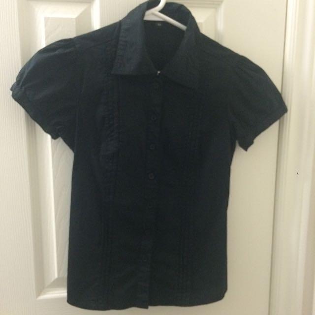 Black Button-up Shirt