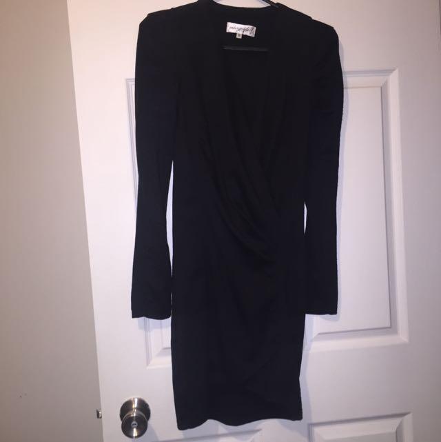 Black Long Sleeved Dress