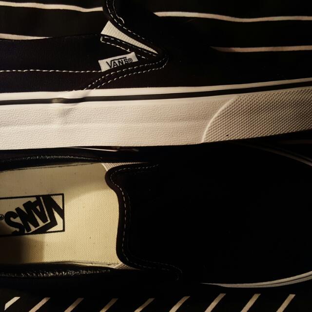Brand New Black Classic Slip On Vans