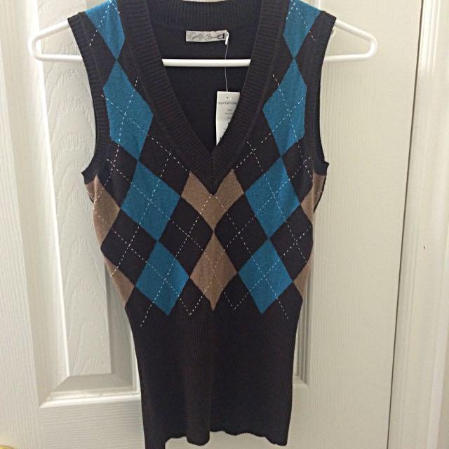 Brown/Blue Vest
