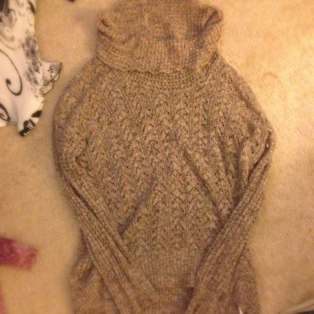 cowlneck knitted sweater