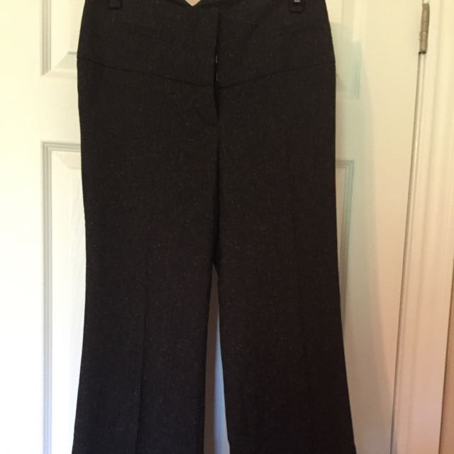 Dark Grey Wide Leg Dress Pants