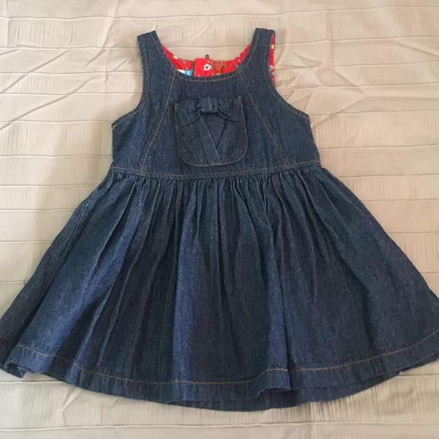 Girls Denim Dress Size 1