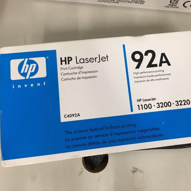 HP碳粉匣92A 全新未拆