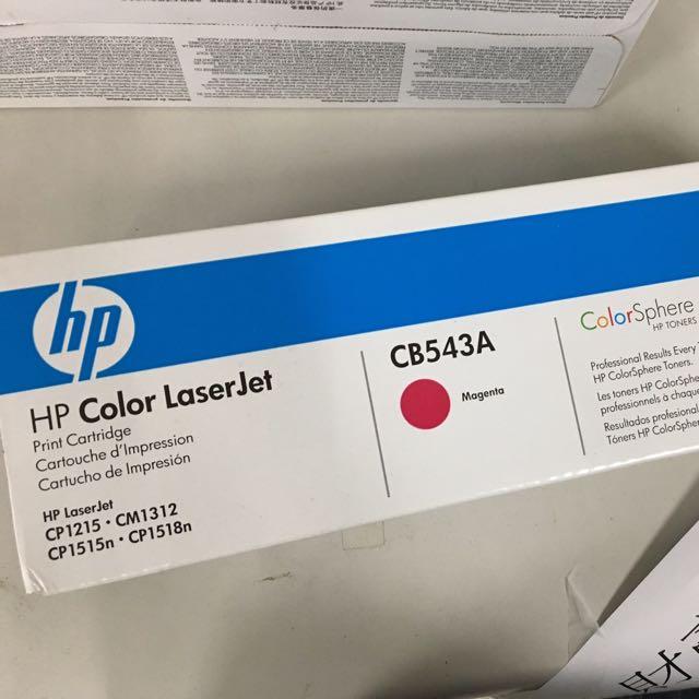 HP碳粉匣CB543A(紅)全新未拆
